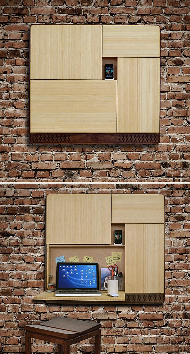 Wedo thiết kế bàn và kệ mini trên tường cho nhà nhỏ