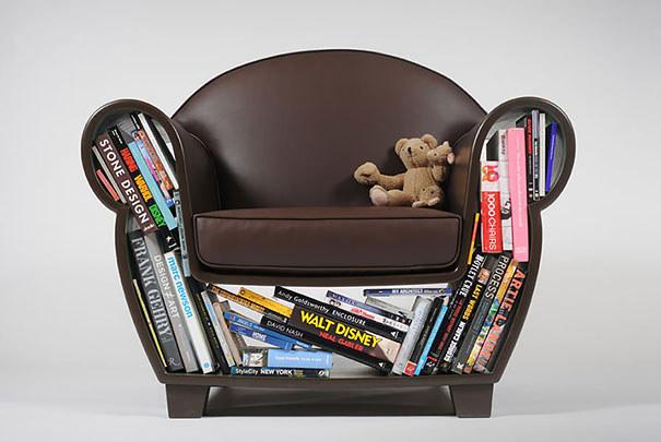 Wedo thiết kế ghế và kệ sách cho nhà nhỏ