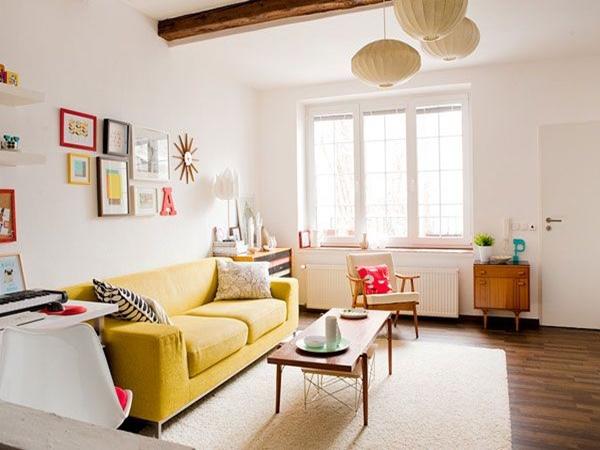 Wedo thiết kế nội thất phòng khách rẻ và đẹp cho người trẻ năng động