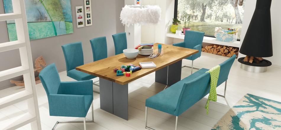 Wedo thiết kế nội thất phòng ăn trẻ trung và tinh tế với gam màu xanh