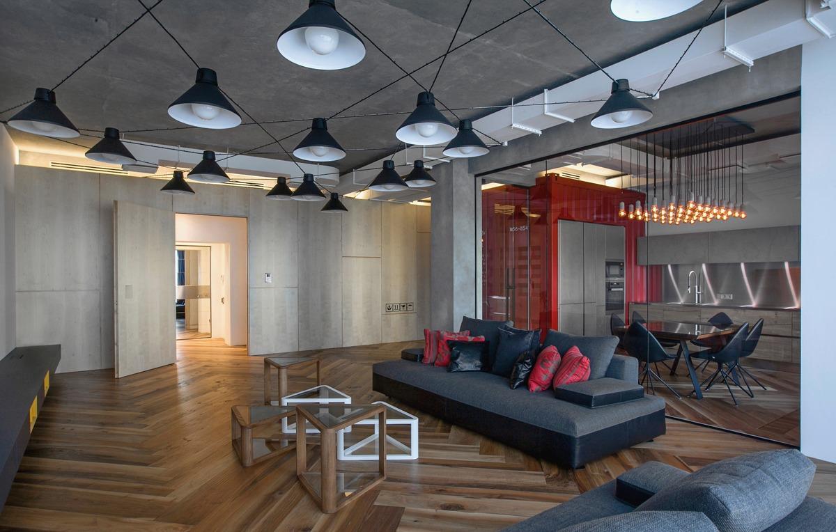 Wedo thiết kế nội thất đẹp cho phòng khách căn hộ gác xép