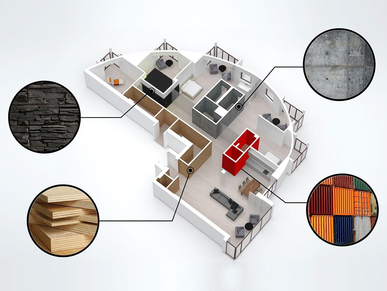 Wedo thiết kế nội thất đẹp cho căn hộ gác xép