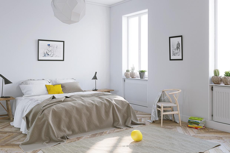Wedo thiết kế nội thất phòng ngủ đẹp được điểm sắc vàng