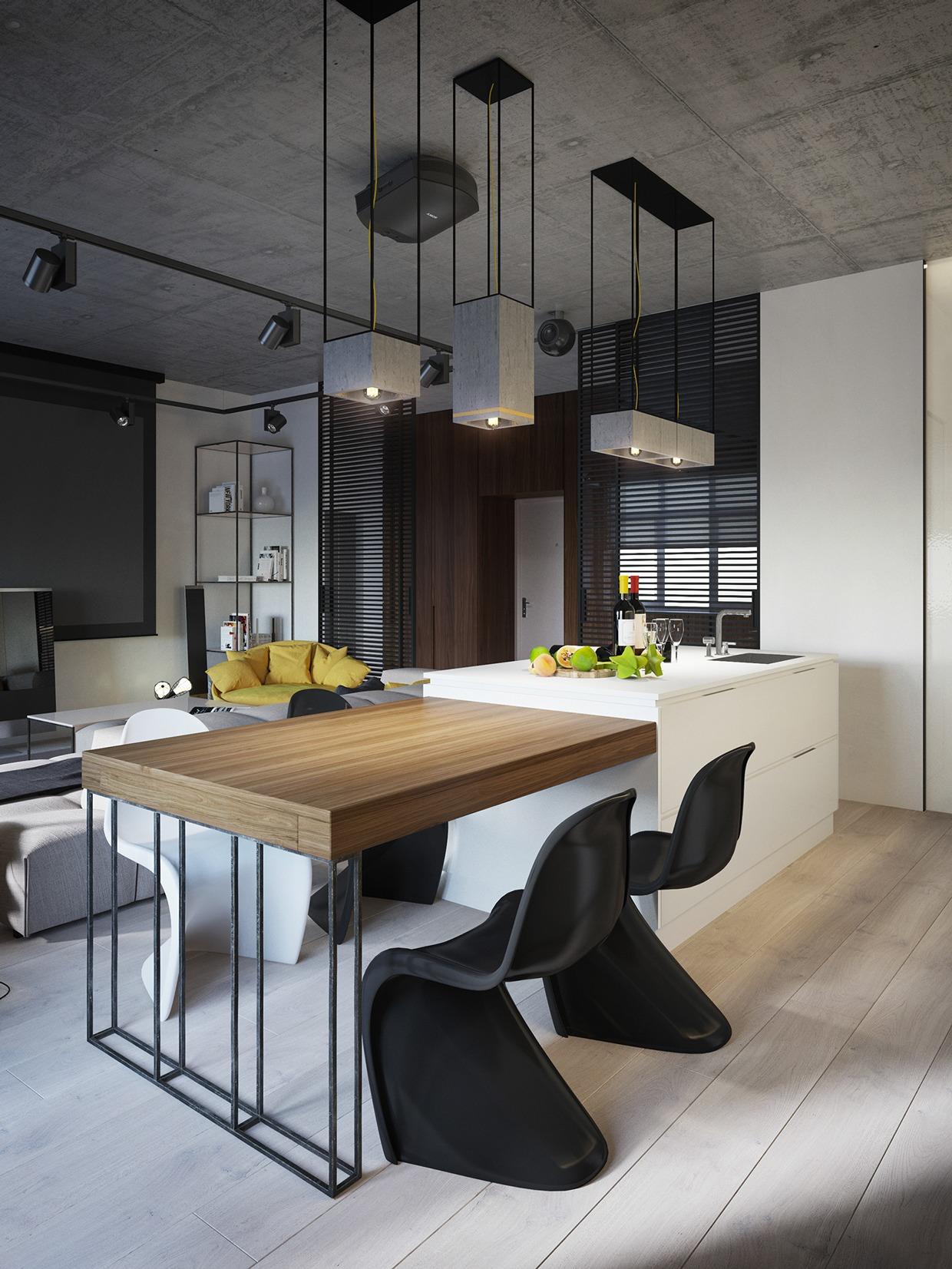 Wedo thiết kế nội thất nhà bếp đẹp với màu vàng