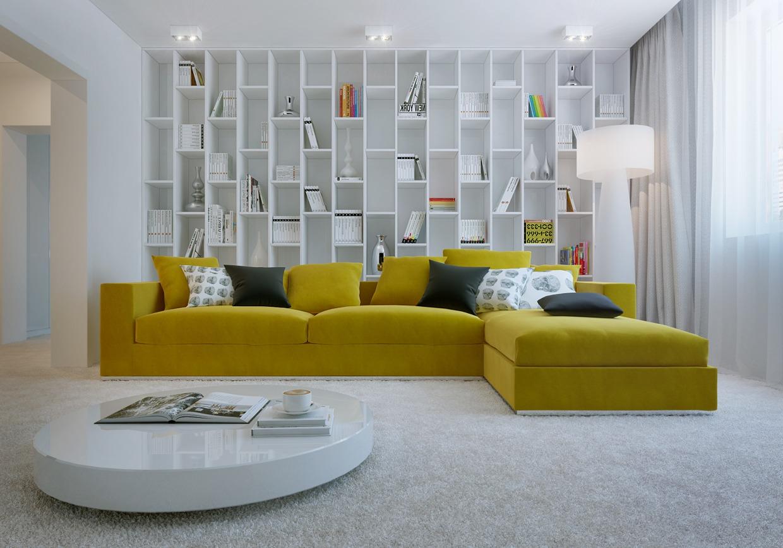 Wedo thiết kế nội thất phòng khách đẹp với mùa vàng