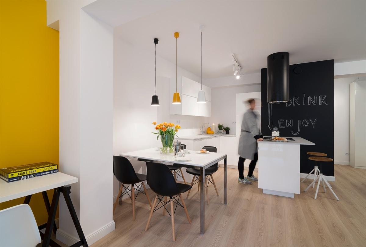Wedo thiết kế phòng ăn đẹp với nội thất màu vàng