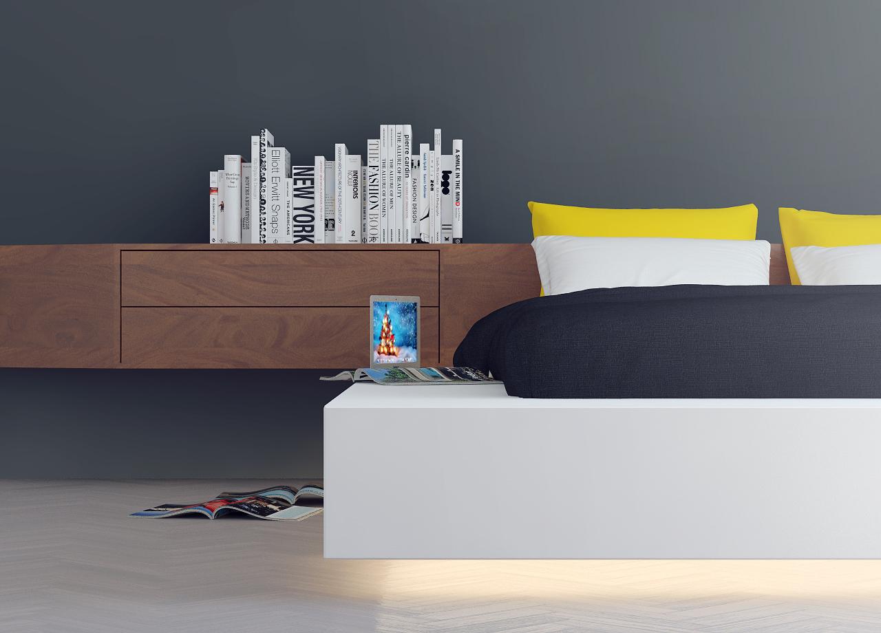Wedo thiết kế phòng ngủ đẹp với nội thất màu vàng