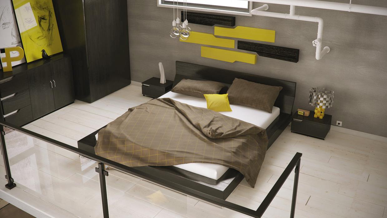 Wedo thiết kế nội thất phòng ngủ màu trầm đẹp tô điểm sắc vàng