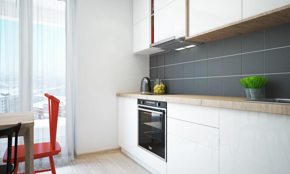 Wedo thiết kế nội thất nhà bếp sáng sủa, gọn gàng cho căn hộ 1 phòng ngủ