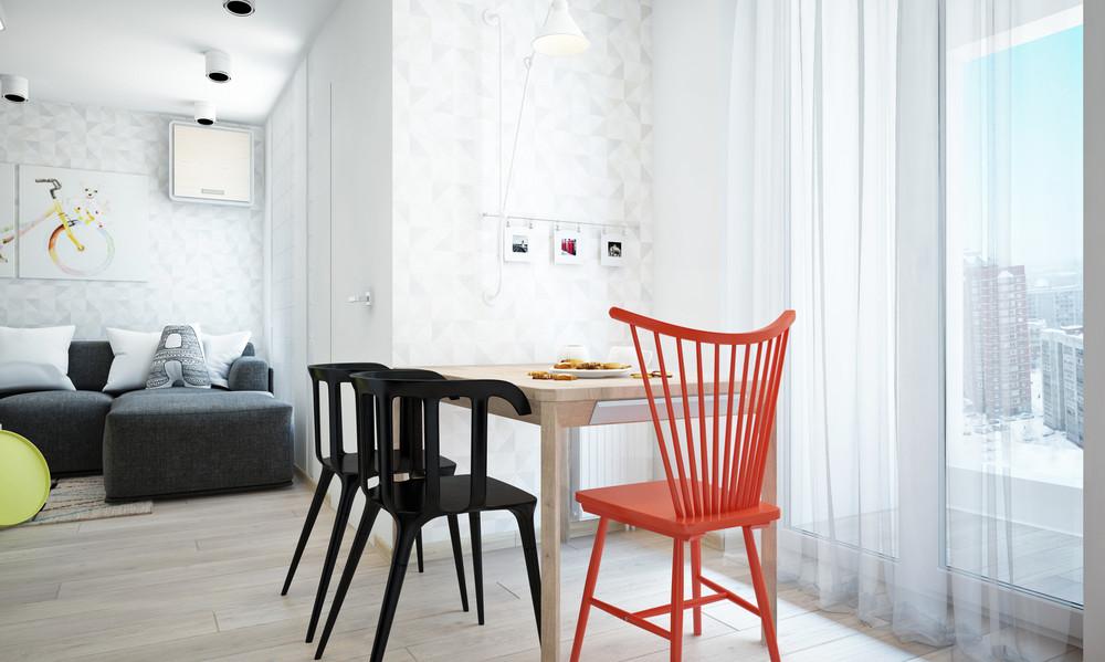 Wedo thiết kế nội thất nhà bếp, phòng ăn sáng sủa, gọn gàng cho căn hộ 1 phòng ngủ