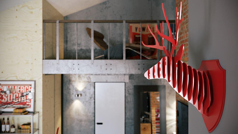 Wedo thiết kế nội thất đẹp cho căn hộ tầng áp mái