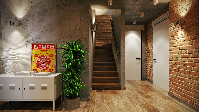 Wedo thiết kế nội thất đẹp với gạch trần cho căn hộ áp mái