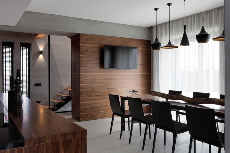 Wedo thiết kế phòng ăn nhà đẹp với gỗ tự nhiên