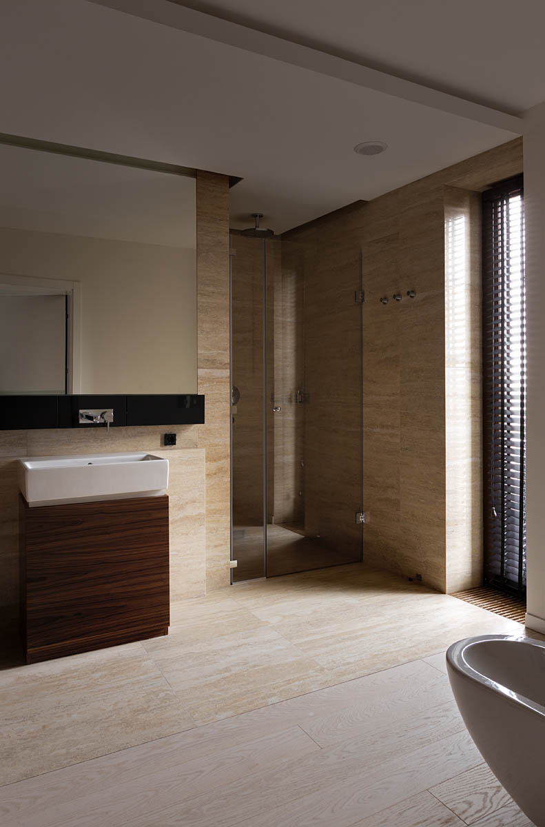 Wedo thiết kế nội thất phòng tắm đẹp với gỗ tự nhiên
