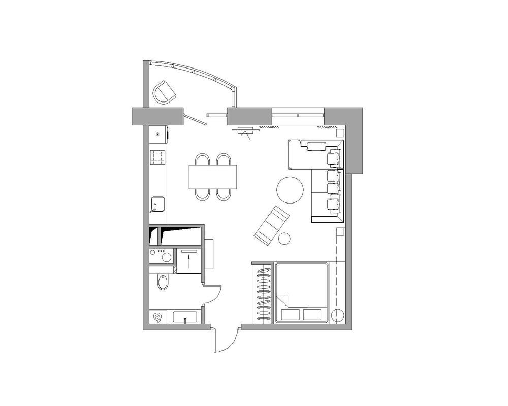 Bản vẽ thiết kế nội thất cho ngôi nhà diện tích nhỏ