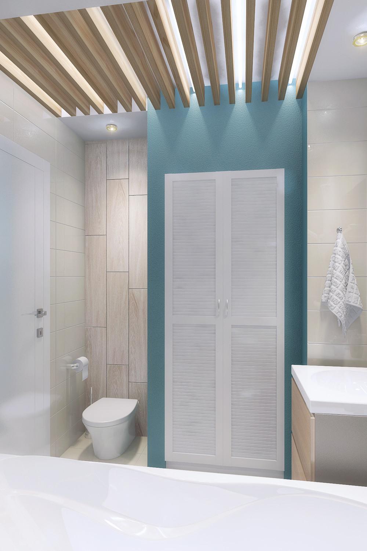 Wedo thiết kế nội thất tiện nghi và hoàn hảo cho phòng tắm trong ngôi nhà diện tích nhỏ