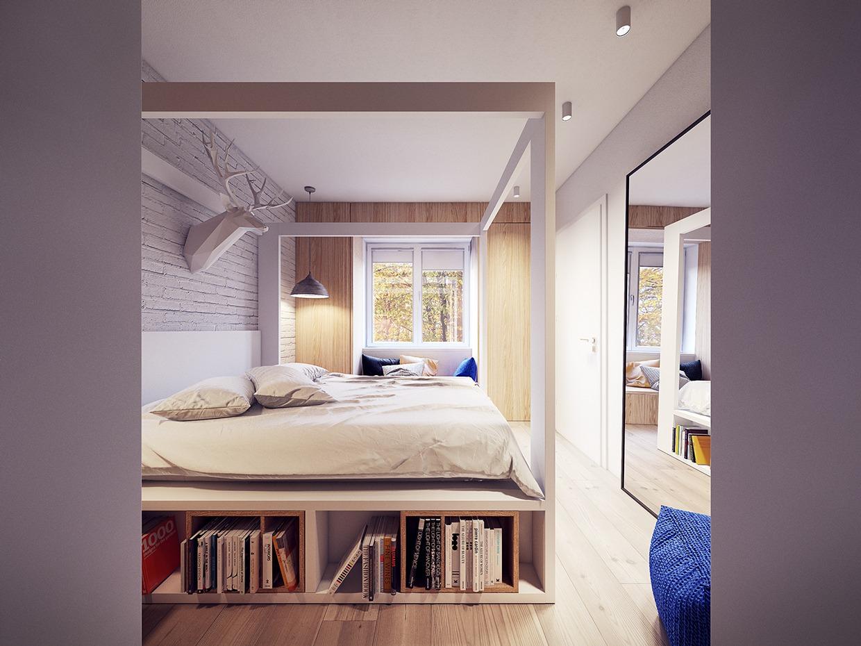 Wedo thiết kế nội thất phòng ngủ đẹp lấy cảm hứng từ xu hướng những năm 60