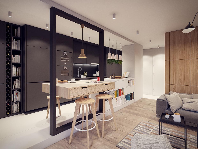 Wedo thiết kế nội thất phòng bếp đẹp lấy cảm hứng từ xu hướng những năm 60