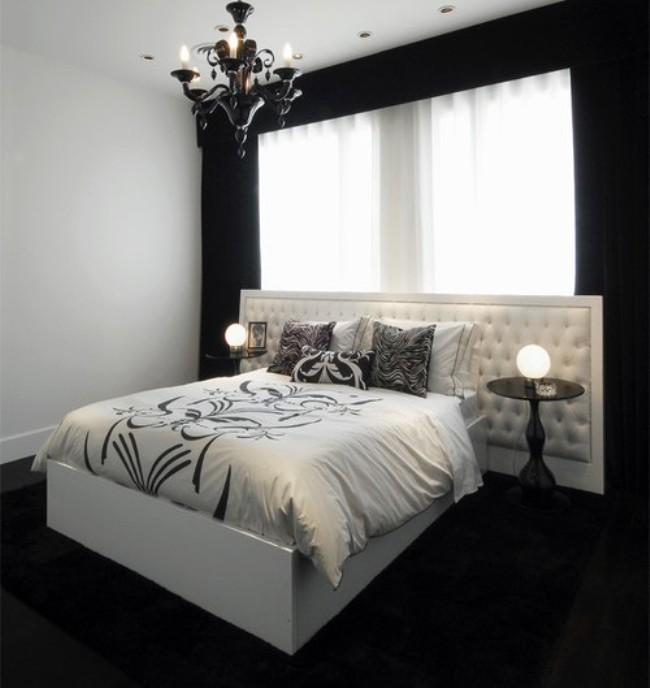 Wedo thiết kế nội thất phòng ngủ sang trọng và nổi bật với 2 màu đen và trắng