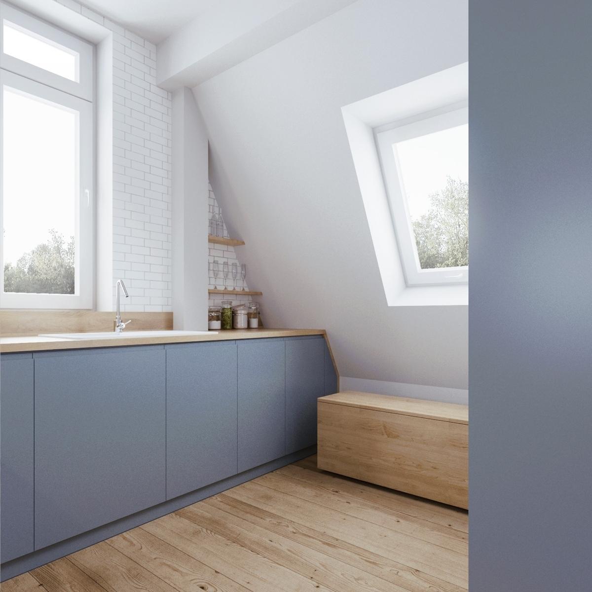 Wedo thiết kế nội thất thông minh cho căn hộ nhỏ tầng áp mái
