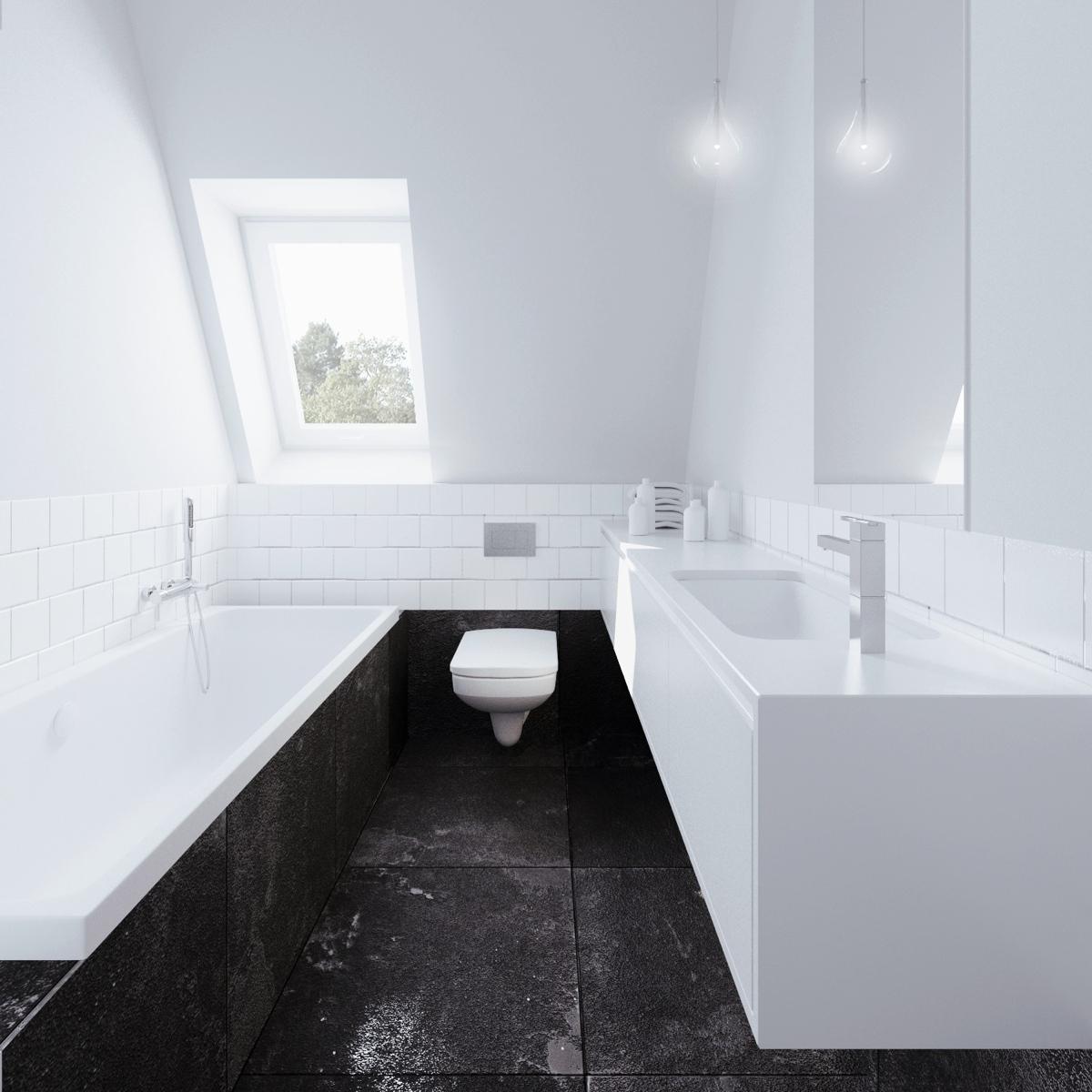 Wedo thiết kế nội thất phòng tắm thông minh cho căn hộ nhỏ tầng áp mái