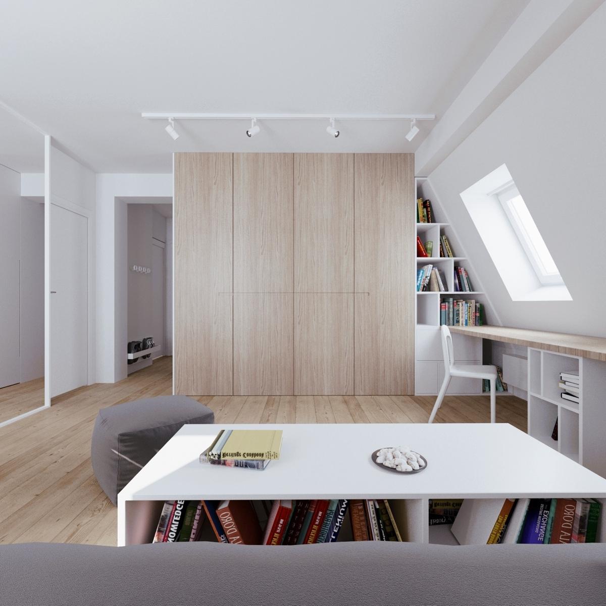 Wedo thiết kế nội thất thông minh cho phòng ăn căn hộ áp mái