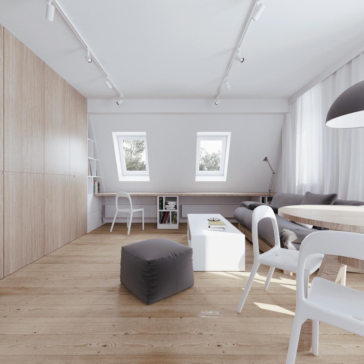 Wedo thiết kế nội thất thông minh cho căn hộ tầng áp mái
