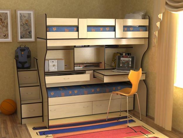 Wedo thiet ke giuong da nang cho khong gian phong ngu nho 10 Chia sẻ những mẫu giường thông minh dành cho phòng ngủ nhỏ