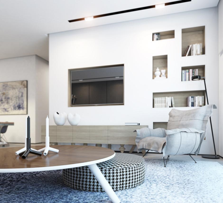 Wedo thiết kế nội thất đẹp tinh tế với tông màu trắng