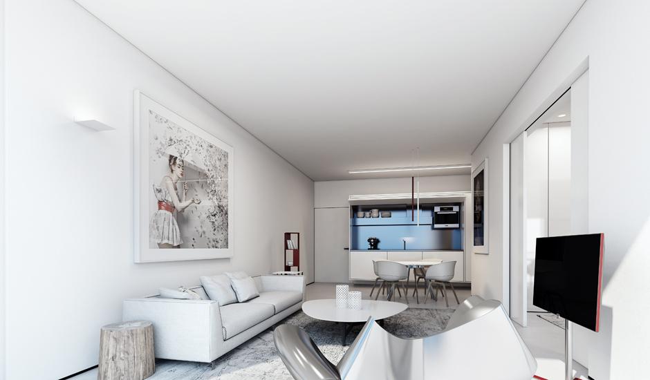 Wedo thiết kế nội thất phòng khách đẹp tinh tế với màu trắng