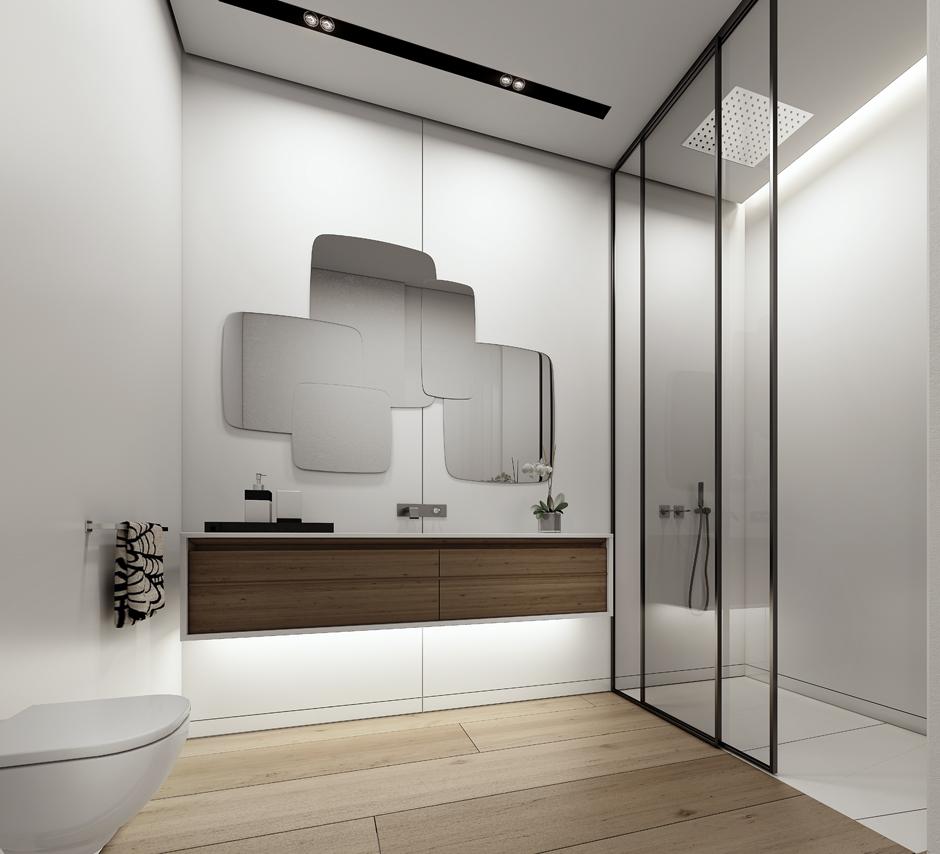 Wedo thiết kế nội thất phòng tắm đẹp tinh tế với màu trắng