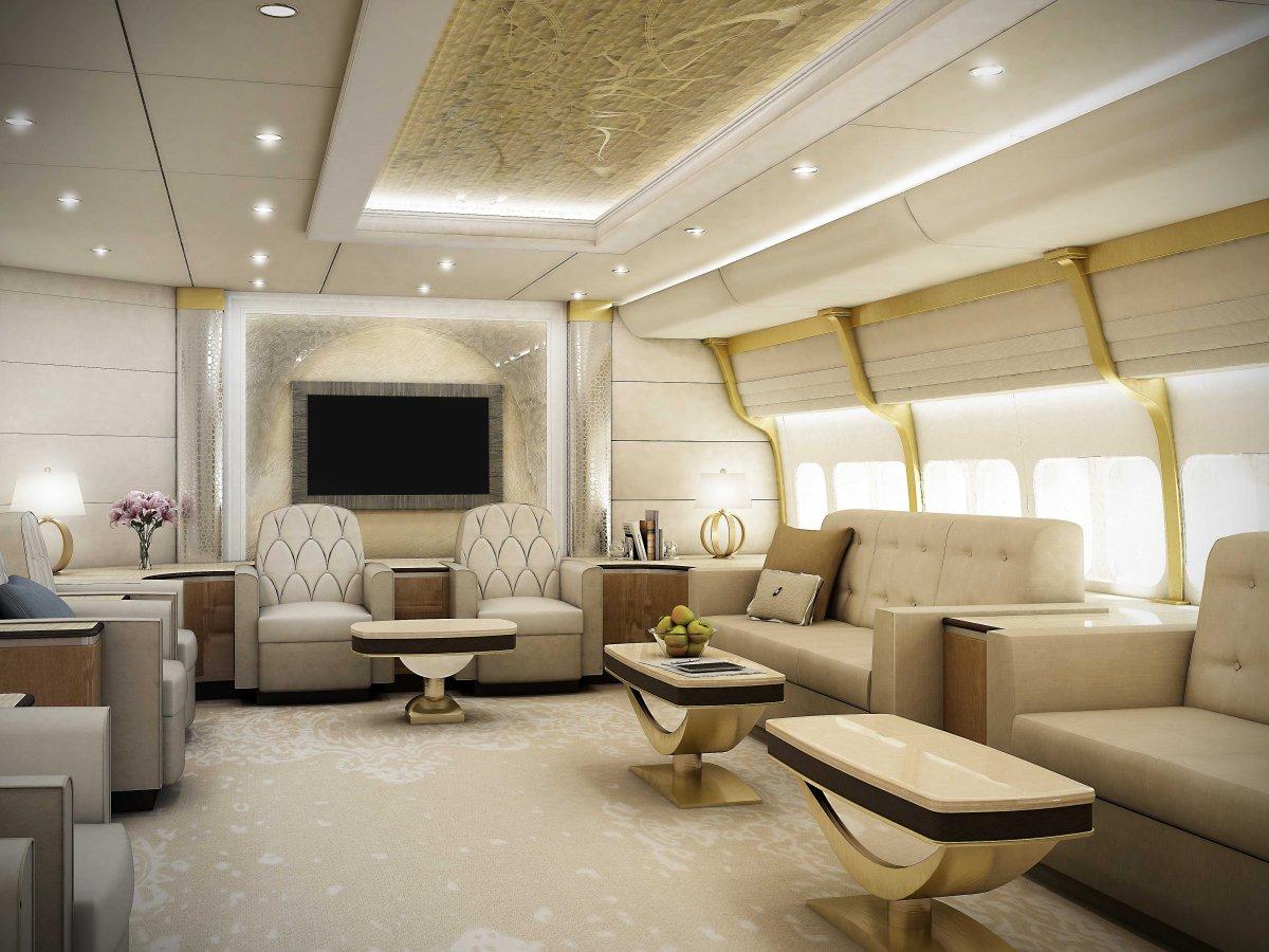 Wedo thiết kế nội thất phòng khách sang trọng và độc đáo như dành cho máy bay