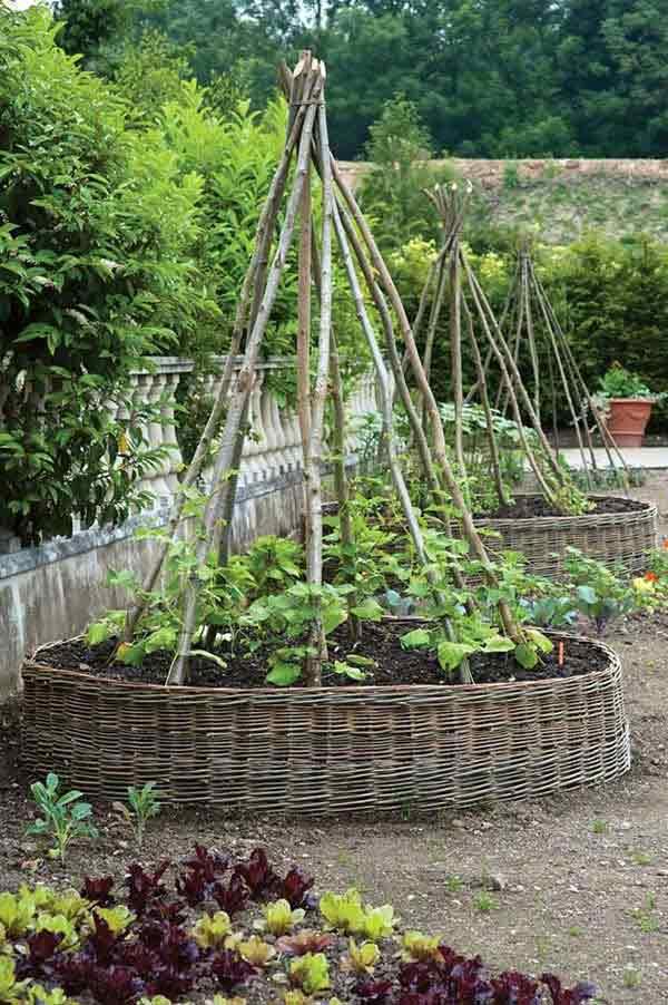 Wedo thiết kế tiểu cảnh sân vườn đơn giản và độc đáo với tre đan