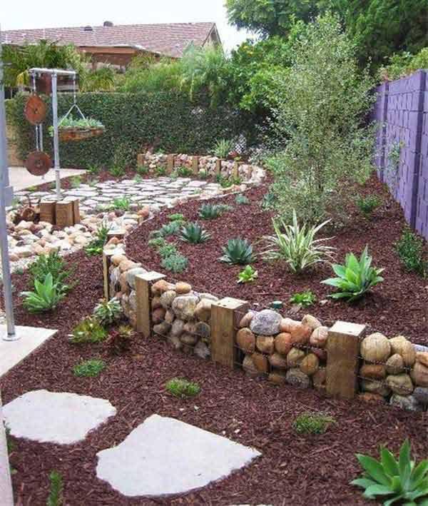 Wedo thiết kế tiểu cảnh sân vườn đơn giản và độc đáo với đá
