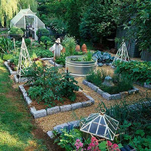 Wedo thiết kế tiểu cảnh sân vườn đơn giản và độc đáo với gạc xi măng