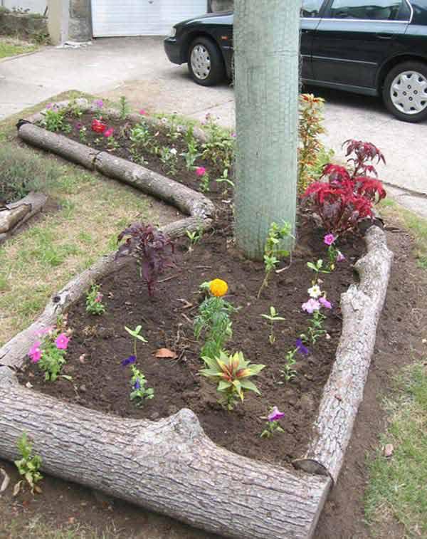 Wedo thiết kế tiểu cảnh sân vườn đơn giản và độc đáo với gỗ