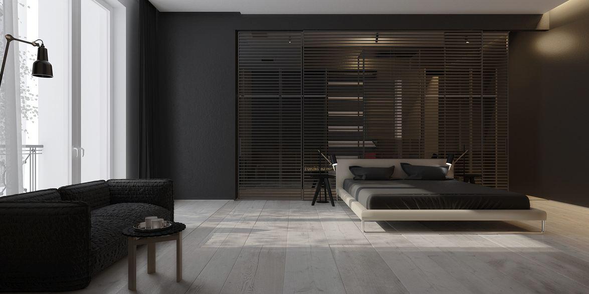 Wedo thiết kế phòng ngủ mở với nội thất tối giản đẹp