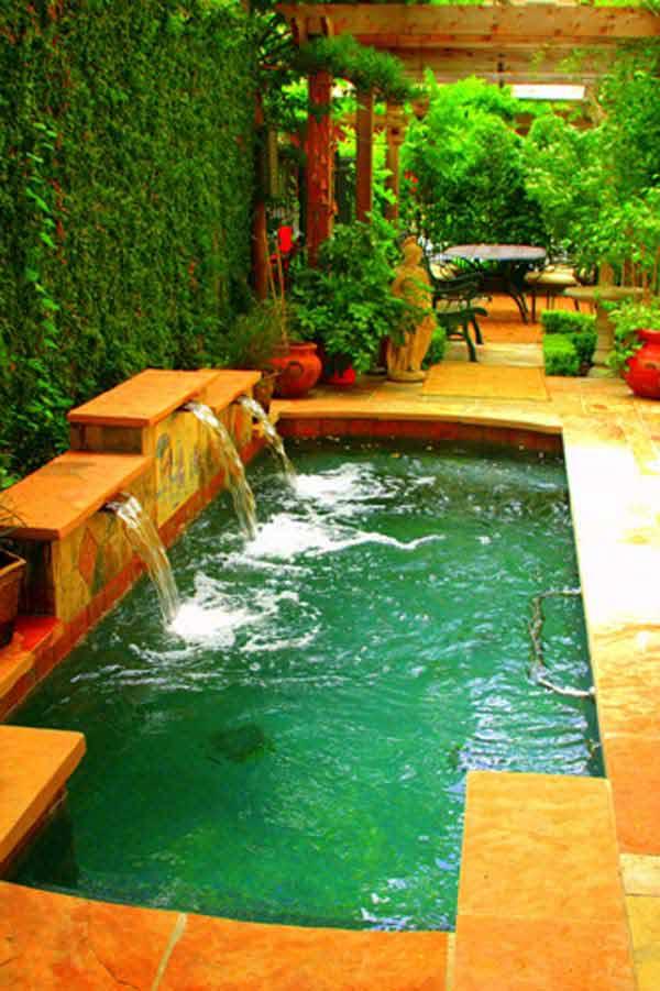Wedo thiết kế bể bơi nhỏ đẹp cho sân vườn sau nhà