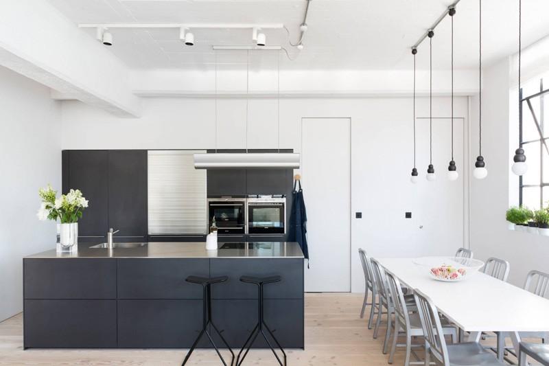 Wedo thiết kế nội thất phòng ăn và nhà bếp đẹp từ không gian công nghiệp