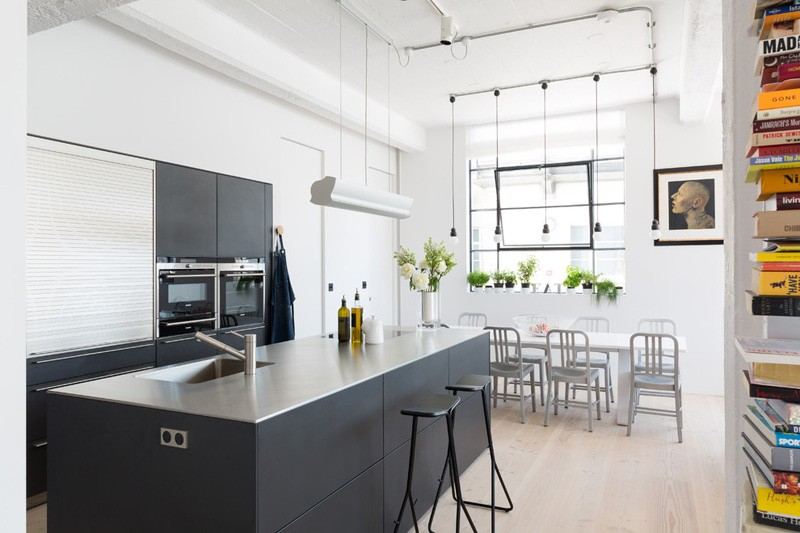 Wedo thiết kế nội thất phòng bếp đẹp từ không gian công nghiệp