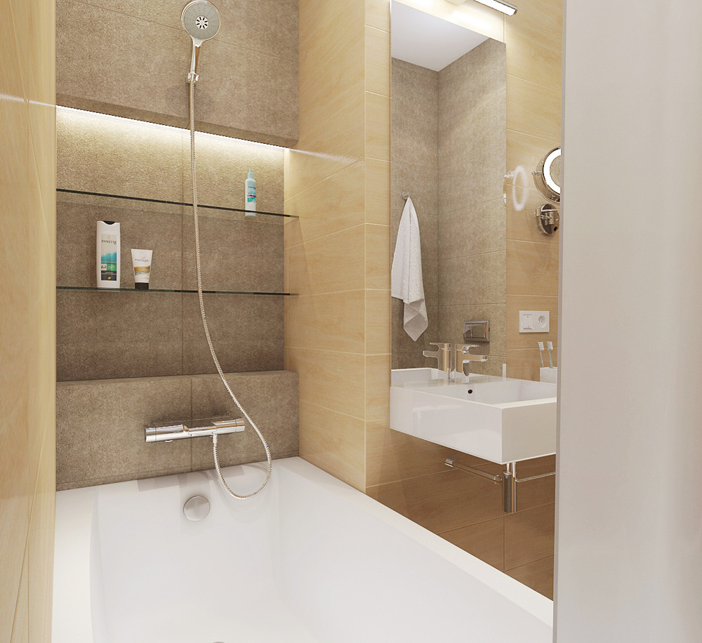 Wedo thiết kế nội thất phòng tắm đơn giản, thông minh cho nhà nhỏ