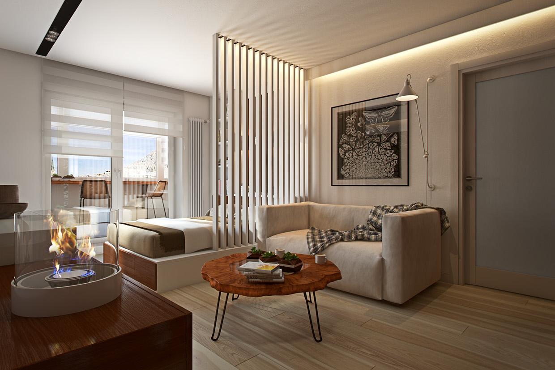 Wedo thiết kế nội thất phòng khách đơn giản, thông minh cho nhà nhỏ