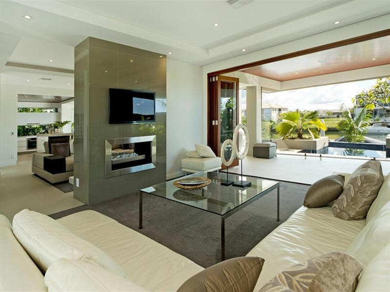 Wedo thiết kế nội thất đơn giản và đẹp cho phòng khách ngôi nhà 2 tầng