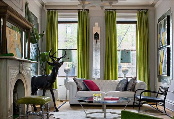 Wedo thiết kế nội thất phòng khách đẹp với màu xanh lá cây