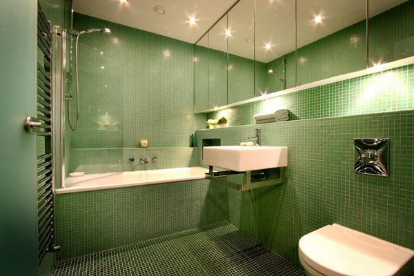 Wedo thiết kế nội thất phòng tắm đẹp với màu xanh lá cây