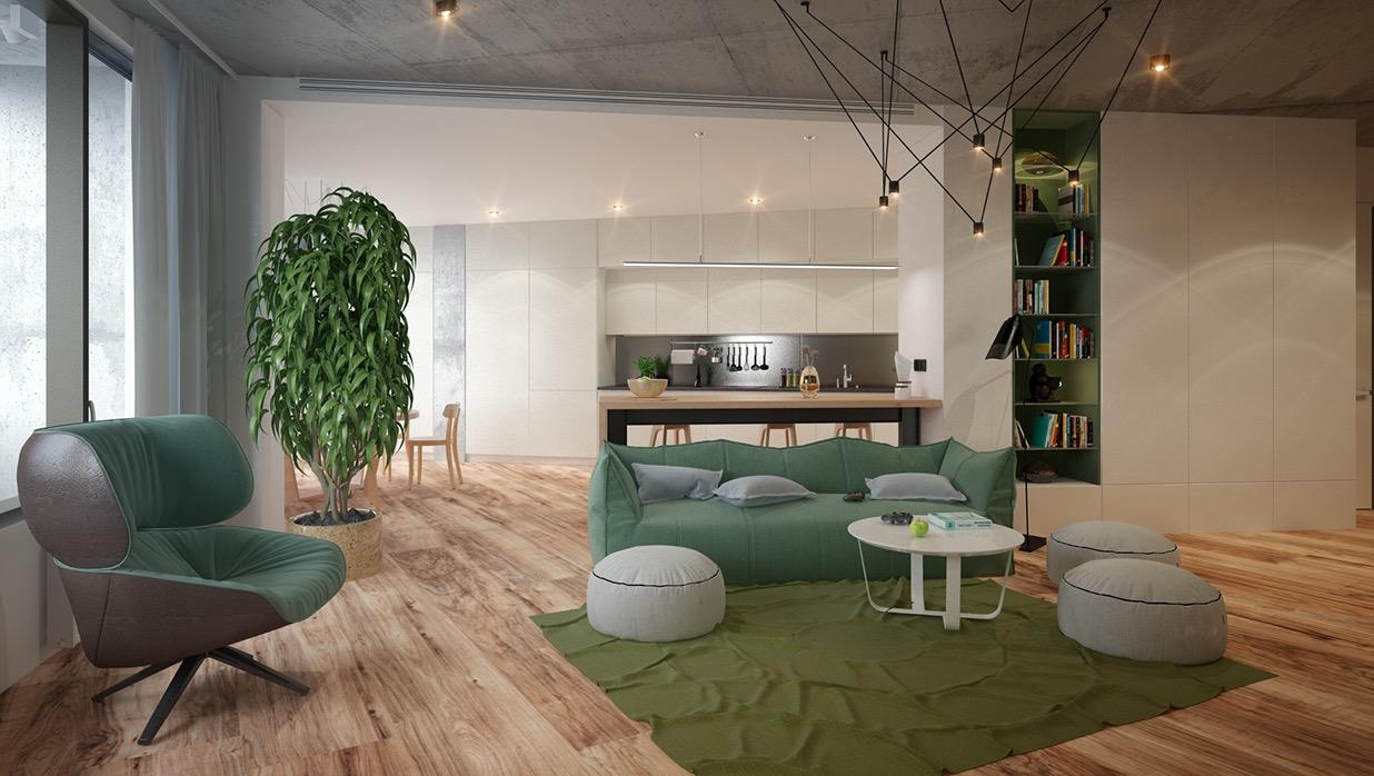 Wedo thiết kế nội thất phòng khách hiện đại,thoáng mát 26