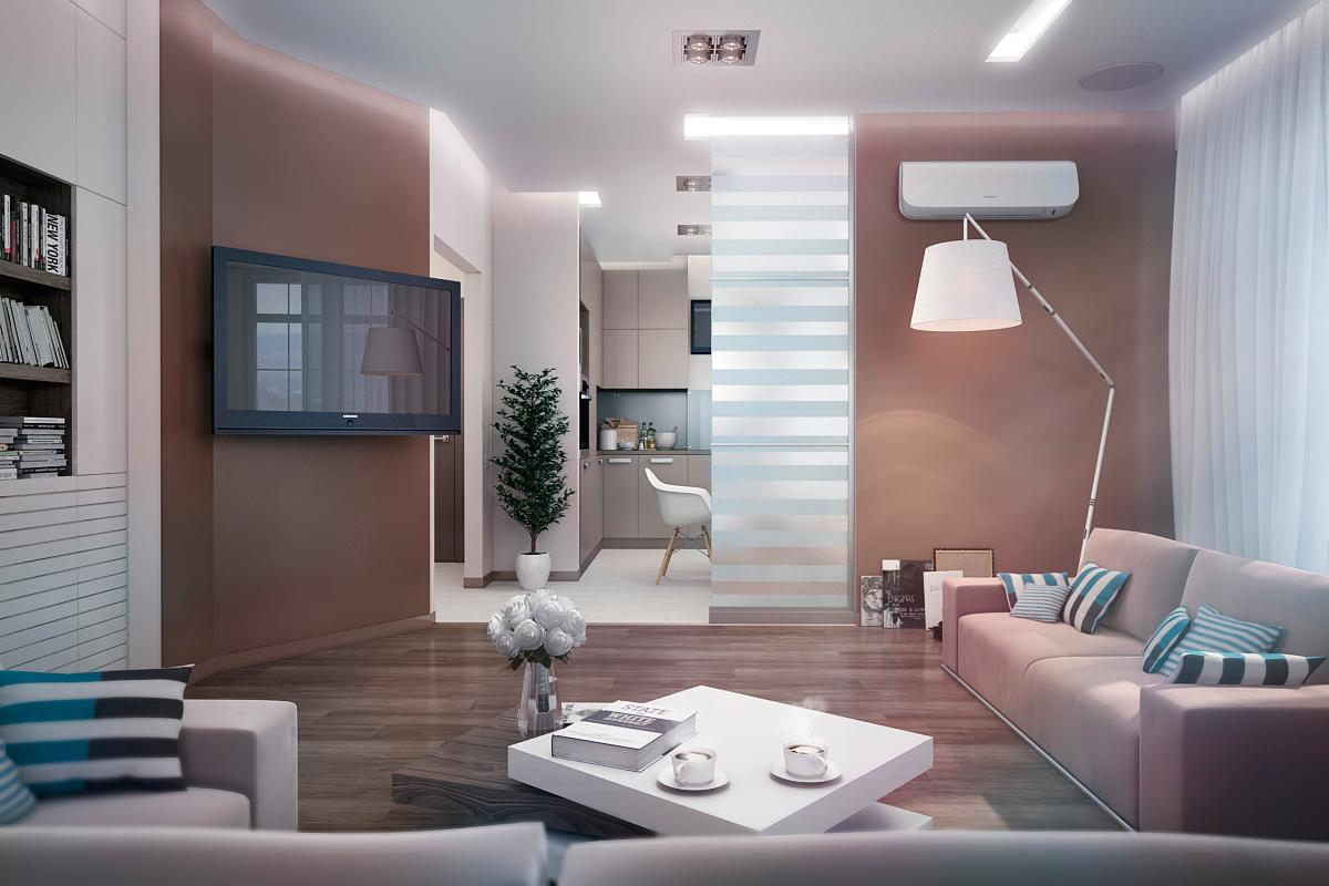 Wedo thiết kế nội thất phòng khách hiện đại,thoáng mát 4