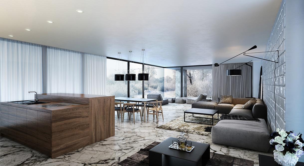 Wedo thiết kế nội thất phòng khách hiện đại,thoáng mát 6
