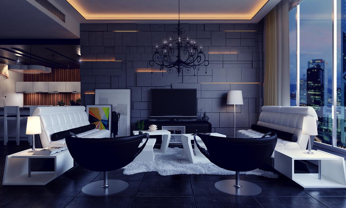Wedo thiết kế nội thất phòng khách hiện đại,thoáng mát 20