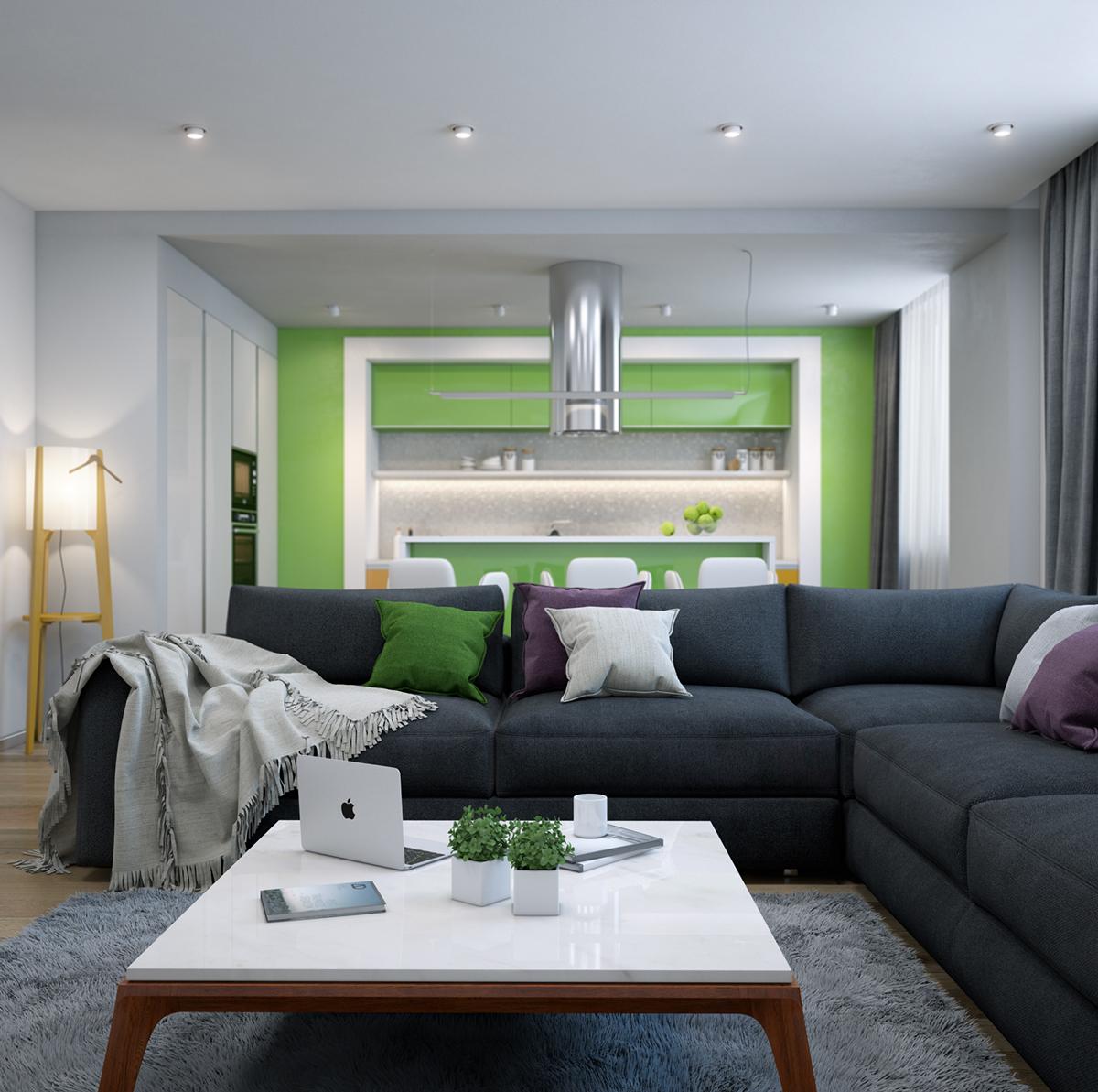 Wedo thiết kế nội thất phòng khách hiện đại,thoáng mát 9